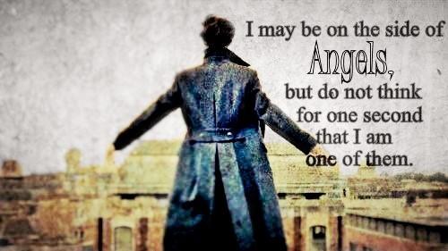 The brilliant Benedict Cumberbatch as Sherlock Holmes in The Reichenbach Fall.