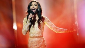 The inimitable Conchita Wurst...who would fit right in on Oxford Street. Yet another reason why Australia should be admitted to the Council of Europe...