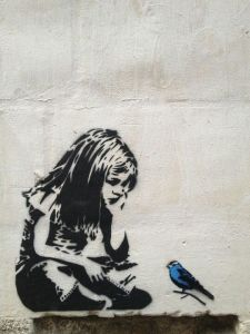 Blue Bird by the elusive Banksy