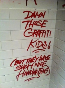 Damn graffiti kids...