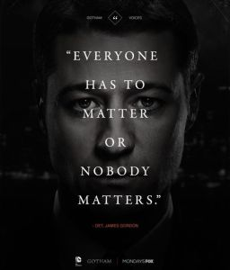 Everyone has to matter...