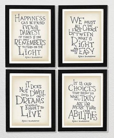 HP Dumbledore quotes