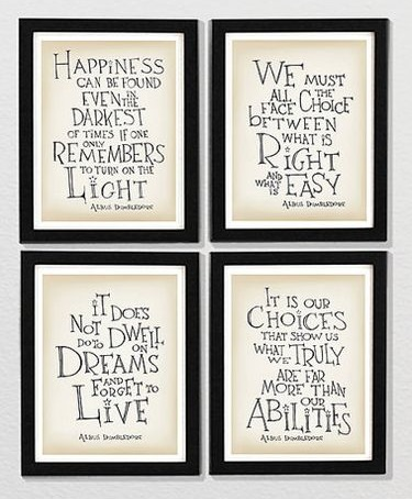HP Dumbledore quotes